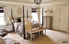 Savvy Southern Style: My Favorite Room....Sophia's Decor- use of different woods is stunning!  A neutral room that is NOT boring!