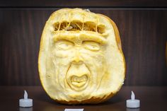 CoServ 2014 Pumpkin Carving Contest Entry - SECOND PLACE (Scary Face)