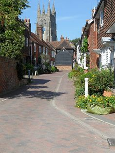 Tenterden in Kent, England. 13th century St Mildred's church in the distance by rubyblossom.