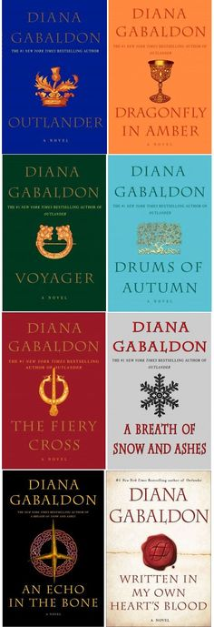 Outlander Series by Diana Gabaldon (Has the new book included in the list!) My favorite books of all time!!!! Can't wait till March 2014 when the new one comes out.