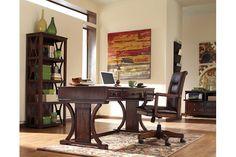 Devrik Desk, Bookcase, Storage Cabinet
