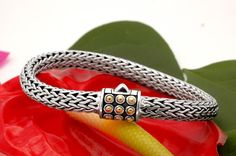 "New ""Braschi"" Unisex Sterling Silver & 18k Gold Hand-Made Bracelet Now Available At Ebay! youtu.be/2CNcB6jk4nw"