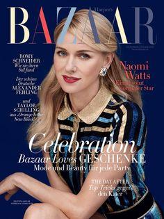 Naomi Watts Stars on Harper's Bazaar Germany's 'Stunning' December/January Cover