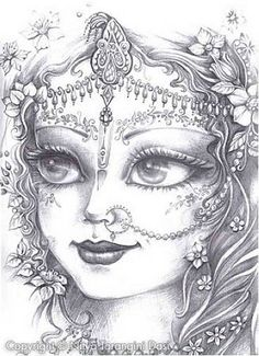 Krishna Drawing, Krishna Painting, Krishna Art, Girl Drawing Sketches, Pencil Art Drawings, Cute Drawings, Adult Coloring Book Pages, Ganesha Art, Indian Folk Art
