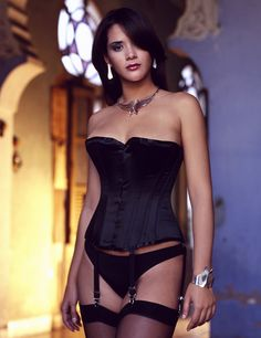 931b38cb4d Salacious Corset - Overbust corset shown in a black satin. Available in a  variety of