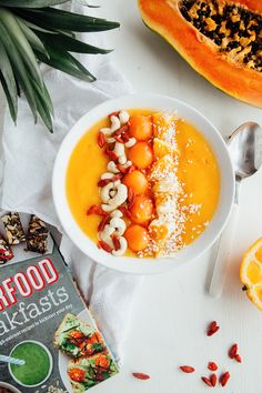 Tropical Fruit Smoothie Bowl is perfect for summer! Visit graze.com to get snacks to top it with!