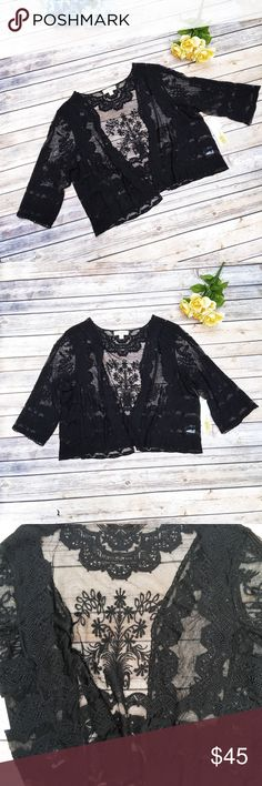 Nurture Sheer Black Lace Festival Top ✨ ★ NWT, in perfect condition!  ★ This adorable Nurture black lace top is perfect for festival season! Or spring and summer. Sheer lace is super cute! Trendy, too.  ★ 70% Cotton || 30% Nylon.  ★ NO TRADES!  ★ NO MODELING!  ★ YES REASONABLE OFFERS! ✅ ★ Measurements available by request and as soon as possible.  Nurture Tops