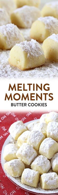is melt in your mouth time, folks ! Melting Moments are a MUST-MAKE Christmas. It is melt in your mouth time, folks ! Melting Moments are a MUST-MAKE Christmas.It is melt in your mouth time, folks ! Melting Moments are a MUST-MAKE Christmas. Köstliche Desserts, Holiday Desserts, Holiday Baking, Christmas Baking, Holiday Recipes, Dessert Recipes, Best Christmas Cookies, Christmas Christmas, Baking Recipes