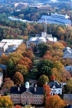 UNC-Chapel Hill aerial view