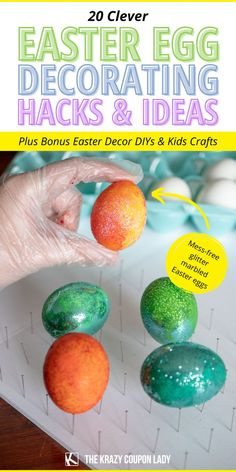Looking for Easter egg decorating hacks & easy Easter DIY, crafts, decoration, & basket ideas? The Krazy Coupon Lady has got you covered with fun, simple ways to celebrate your best Easter yet. Get Easter egg dying tips & hacks, easy indoor kids Easter craft ideas, unique egg dye techniques, basket alternatives for kids, simple spring decor DIYs, and a simple Easter bath bomb recipe that's perfect when asking how to keep your kids busy at home- party or no party! Easter Crafts For Kids, Easter Ideas, Easter Projects, Easter Recipes, Diy Projects, Egg Decorating, Decorating Hacks, Holiday Decorating, Easter Party