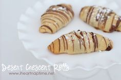 Dessert Crescent Rolls.
