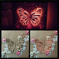 Made this beautiful diy version of a backlit canvas for my niece....she LOVED it (: