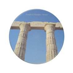Temple of Poseidon - Sounio Beverage Coasters