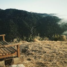 """""""Ten times a day something happens to me like this – some strengthening throb of amazement – some good sweet empathic ping and swell. This is the first, the wildest and the wisest thing I know: that the soul exists and is built entirely out of attentiveness."""" ~ Mary Oliver  #maryoliver #benchwithaview #bigsur #sunsetdreams #spacetobreathe #wildernessinside #abovetheclouds #calocals - posted by Andrea McGinnis https://www.instagram.com/wilderness_inside - See more of Big Sur, CA at…"""