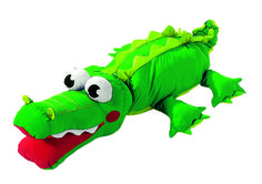 The Wesco Kevin the Crocodile Giant Floor Cushion is a large and friendly crocodile that would be a perfect addition to your kids playroom or bedroom. Giant Floor Cushions, Kids Decor, Yoshi, Crocodile, Kids Bedroom, Little Ones, Playroom, Dinosaur Stuffed Animal, Flooring
