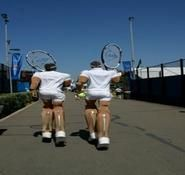 Comedy Tennis stilt walkers for hire in the Uk and across London