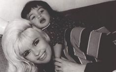 Jayne Mansfield and daughter Mariska Hargitay