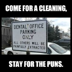 Sorry doc, we're gonna need a little more laughing gas to laugh too hard at this one ;)