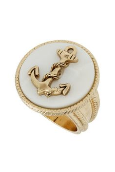 How awesome is this ring?!  And for $10!  @Chelsea Hodges, you've seen to have a real thing for the nautical theme lately...