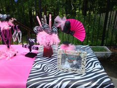 zebra party centerpieces   Here is a different spin on the colors if you prefer this from ...