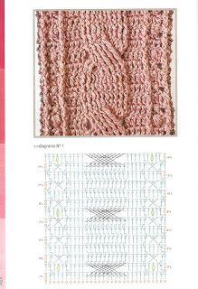 patrones de puntos en relieve de crochet - Buscar con Google