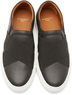 Givenchy Black Elastic Band Slip-On Sneakers