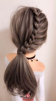 65 Women's Easy Hairstyles Step By Step DIY - The Finest Feed Are you feeling bored with your regular look? If you are, then you gotta change it quickly. Checkout these Easy DIY Hairstyles for Women. Fall Wedding Hairstyles, Easy Hairstyles For Long Hair, Up Hairstyles, Hairstyle For Women, Simple Everyday Hairstyles, Hairstyle Ideas, Long Hair Dos, Teen Girl Hairstyles, Braided Ponytail Hairstyles