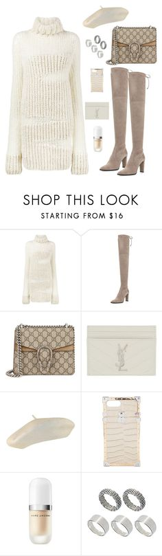 """Untitled #155"" by carolina17-19-97 ❤ liked on Polyvore featuring Ann Demeulemeester, Stuart Weitzman, Gucci, Yves Saint Laurent, Louis Vuitton, Marc Jacobs and ASOS"