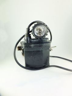 Vintage Soviet Miners Helmet Light Safety Lamp by ContesDeFees