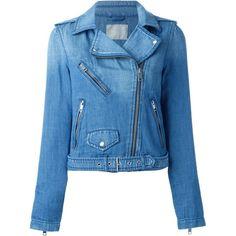 Diesel Denim Biker Jacket ($284) ❤ liked on Polyvore featuring outerwear, jackets, coats, blue, moto jacket, blue jackets, biker jacket, diesel jacket and motorcycle jacket