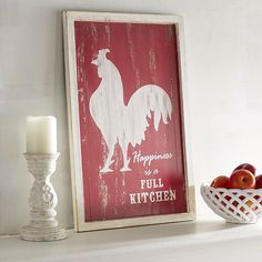 Happiness is a kitchen full of people, good food and great interior design. Our handcrafted wall decor takes care of the design part, with a perfectly distressed style, bold hue and charming, farm-inspired look.