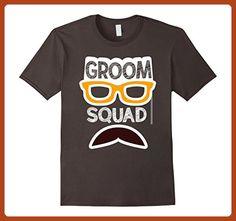 Mens Groom Squad Bridal Groomsmen Wedding Novelty T-Shirt 2XL Asphalt - Wedding shirts (*Partner-Link)