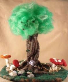 tree of felted wool. i AM going to do this (or, try)