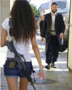 This is what feminine protection is in Israel. And its not even loaded so you don't have to acknowledge that it is open carry!