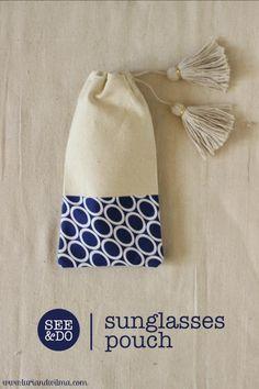 DIY Bag Sunglasses Case : DIY Tasselled Sunglasses Pouch