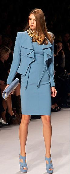 Elie Saab - BEAUTIFUL!  Tone down the shoes and necklace for a real office. ;-)