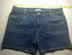 Cato Stretch Women's Blue Denim Jean Short's Size 14 Front Pockets #Cato #CasualShorts