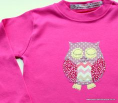 Owl Always Love You......British made children's applique t-shirts from Parsnip & Bramble  www.parsnipandbramble.co.uk Owl Applique, Owl Always Love You, Bramble, Baby Gifts, Fox, British, Crafty, Embroidery, How To Make