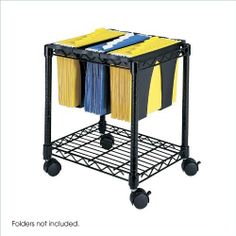 """Safco Wire File Cart - 4 - Steel - 14.5"""" x 17.75"""" x 19.5"""" - Black by Safco. $56.33. Improve your workspace. The Wire File Cart with Tubs is a quick and easy way to expand filing capabilities in the office or home. Three tubs offer a unique way to organize and separate projects. Because they''re removable, its simple to move only what''s needed to a work surface or to meetings.. Save 34% Off!"""
