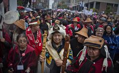 First Nations' elders wait to take part in a Truth and Reconciliation march in Vancouver Downtown Vancouver, First Nations, British Columbia, American Indians, African Americans, Native Americans, Canada, Residential Schools, March