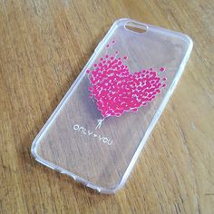 Iphone 6s Custom Designed Heart Case #iphone6scase #iphone6heartcase #heartiphone6case #heartcase