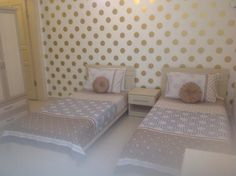 Really pleased with this Spotty Wallpaper, Boy And Girl Wallpaper, Gold Wallpaper, Kids Wallpaper, Guest Room, Boy Or Girl, Nursery, Living Room, Bedroom
