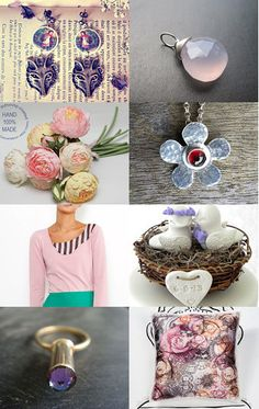 Pink & Lilac Gift Ideas by Julia from LAleTA --Pinned with TreasuryPin.com