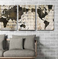 3 IN 1 World Map Canvas Art Print, Large Wall Art Painting Print for Home and Office Wall Decoration Home decor Unframed
