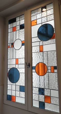 Modern Stained Glass, Stained Glass Light, Stained Glass Door, Stained Glass Designs, Stained Glass Panels, Stained Glass Projects, Stained Glass Patterns, Leaded Glass, Mosaic Glass