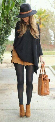Outfits con medias - ideales para invierno