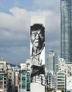 South Korean mural by street artist ECB aka Hendrik Beikirch