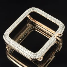14K Rose Gold Finish.925 Lab Diamond Case 42MM -2 Apple Watch Bezel | eBay