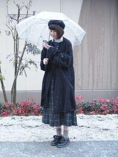shizuku │niko and … Hunting Cap / Beret Looks - Asian Winter Fashion Mori Fashion, Modest Fashion, Hijab Fashion, Fashion Outfits, Japanese Fashion, Asian Fashion, Modest Outfits, Cute Outfits, Ulzzang Fashion