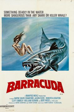 Barracuda posters for sale online. Buy Barracuda movie posters from Movie Poster Shop. We're your movie poster source for new releases and vintage movie posters. Sci Fi Horror Movies, Horror Movie Posters, Movie Poster Art, Scary Movies, Film Posters, Great Movies, 1970s Movies, Vintage Movies, Fiction Movies